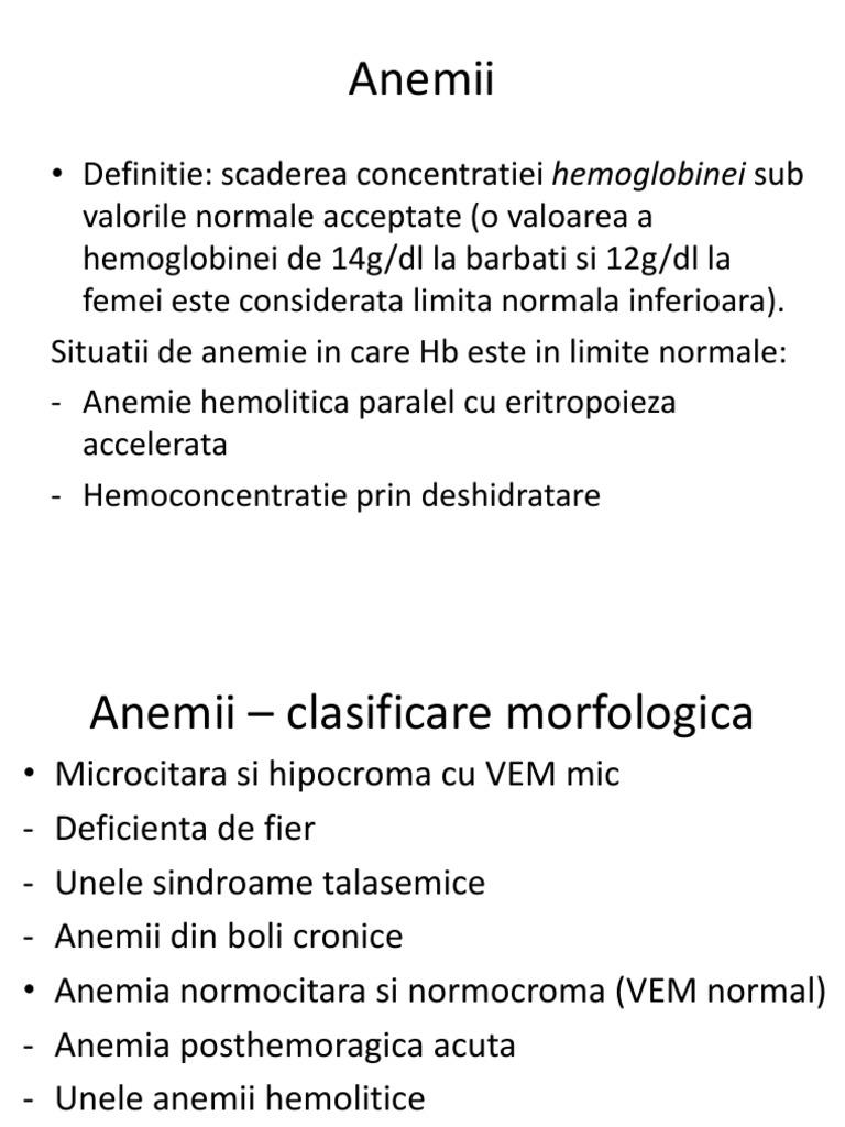Despre anemie: simptome, tipuri, diagnostic si tratament Regina Maria