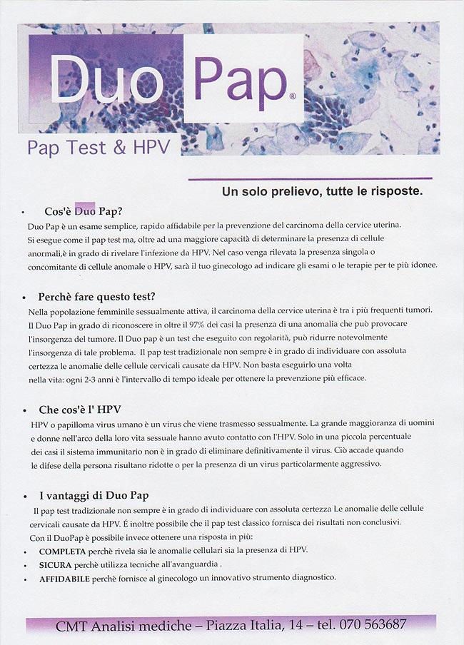 risultati pap test papilloma virus