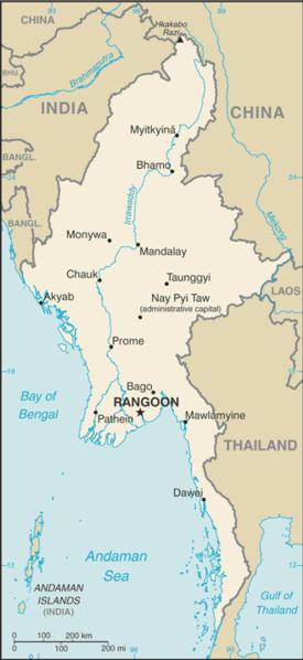 Schistosomiasis în Birmania