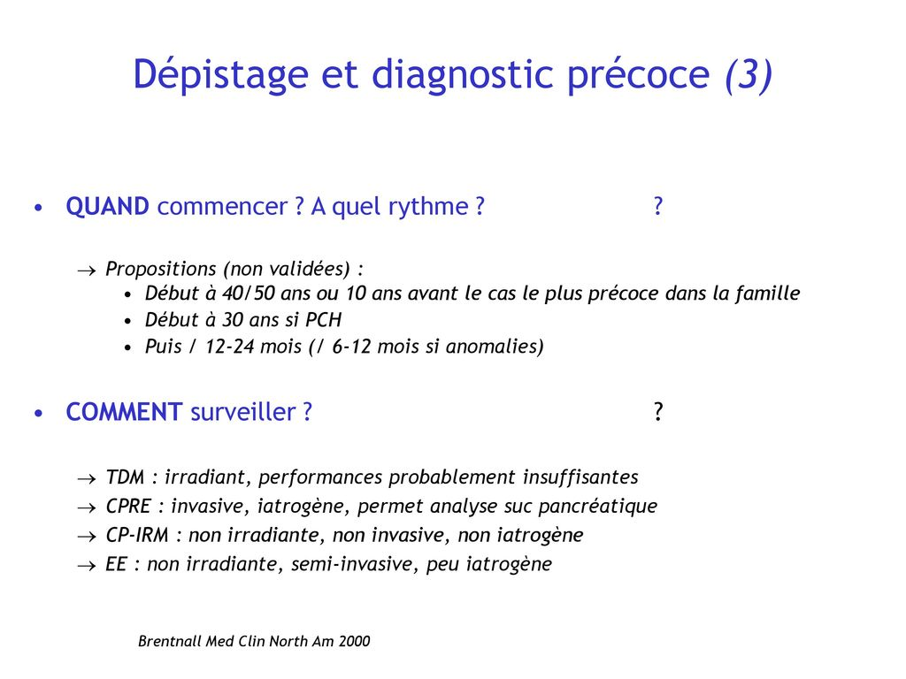 cancer pancreas depistage