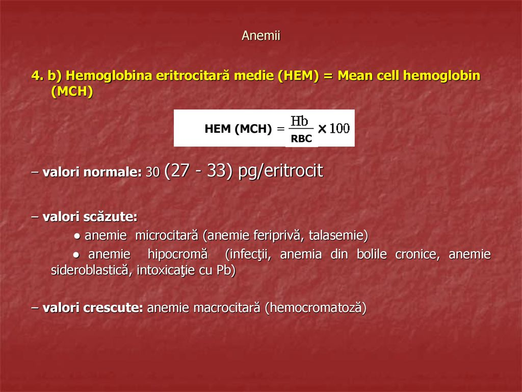 Hemoglobina – ce este, valori, interpretare analize - Cancer