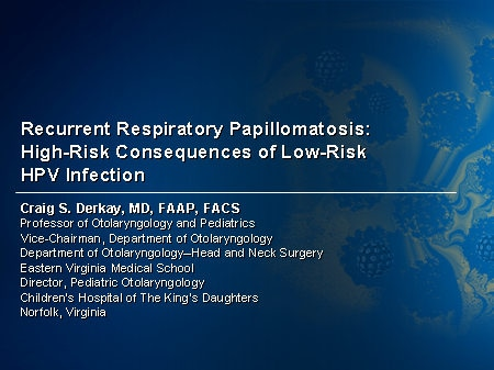 gardasil respiratory papillomatosis