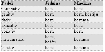 hrvatski pravopis padezi