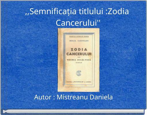 zodia cancerului roman istoric cervical cancer treatment cost