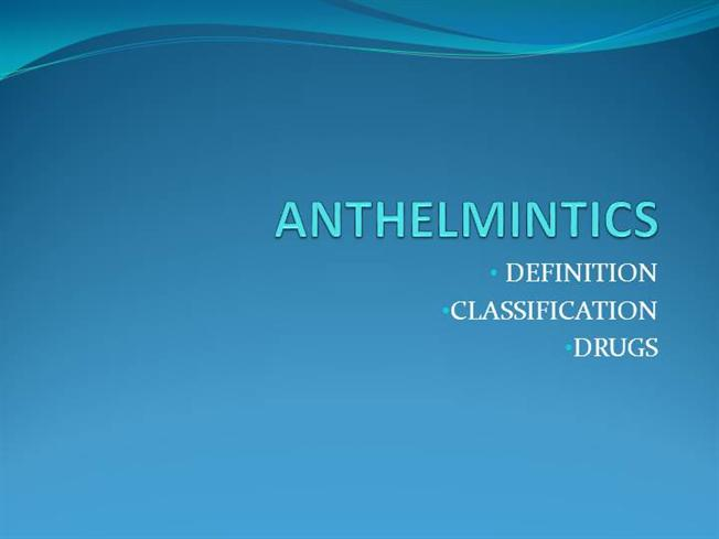 anthelmintic description