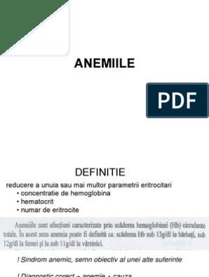 Anemie normocroma normocitara