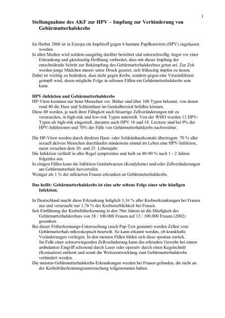 hpv impfung mit 25