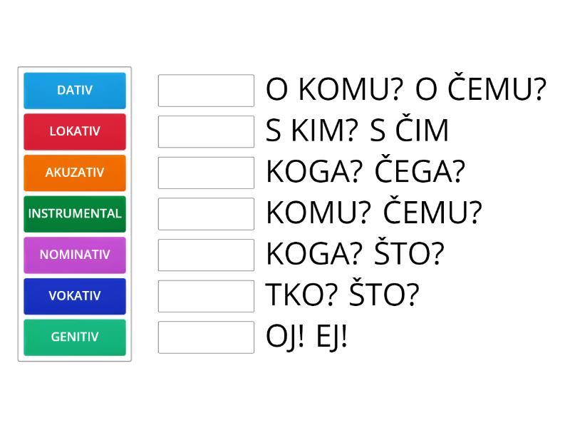 hrvatski jezik padezi 5 razred