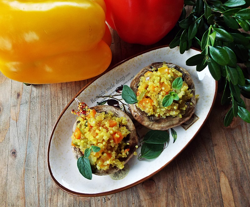 Chiftele de quinoa, spanac si ciuperci