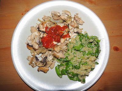 ciuperci cu quinoa si spanac