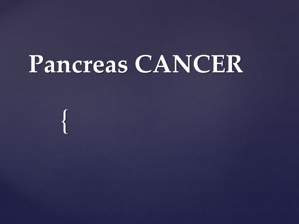 pancreatic cancer ppt