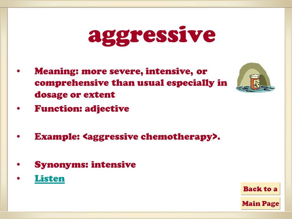 aggressive cancer synonym