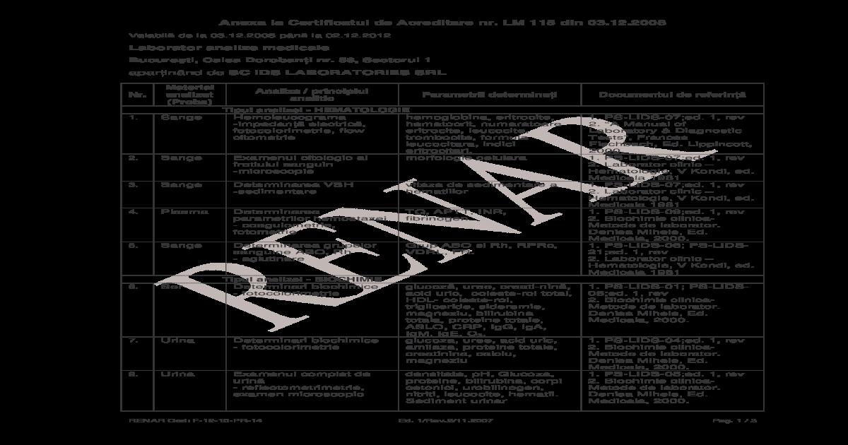 Examen coproparazitologic - Detalii analiza   Bioclinica