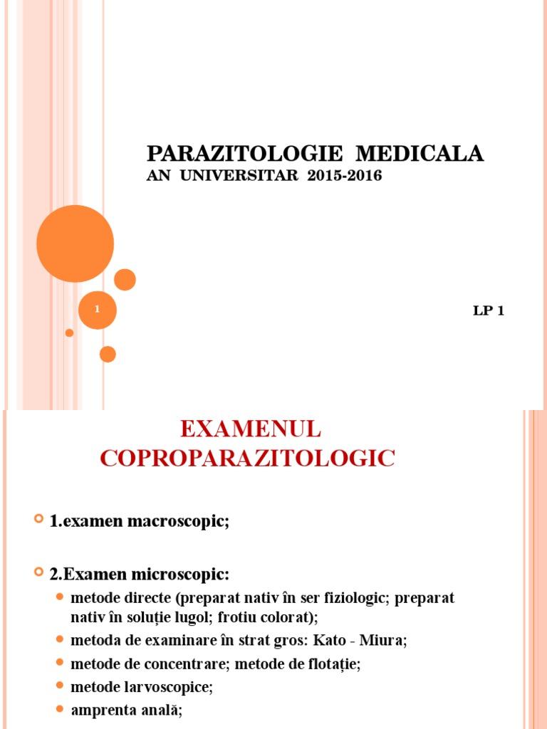 metodele parazitologice specifice