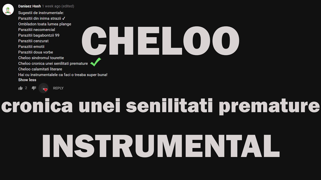 Cheloo - Cronica unei senilitati premature lyrics