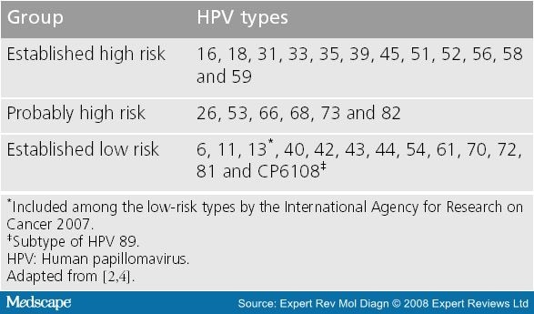 human papillomavirus (hpv) high-risk types