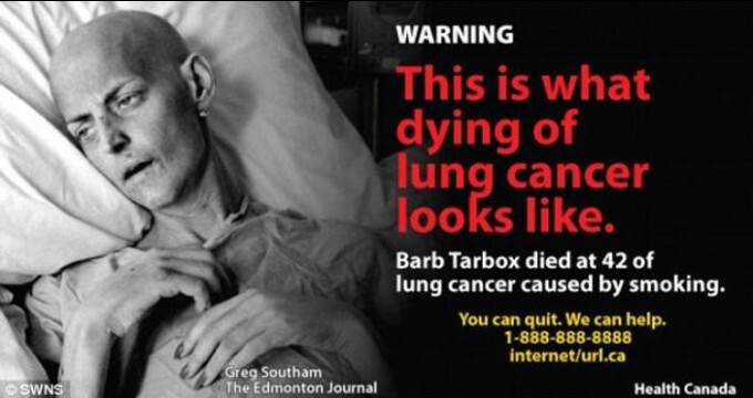 cancer in gat de la tigari