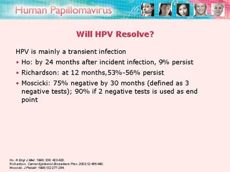 human papillomavirus infection go away