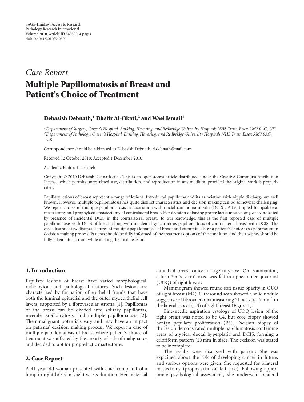 intraductal papilloma patient uk