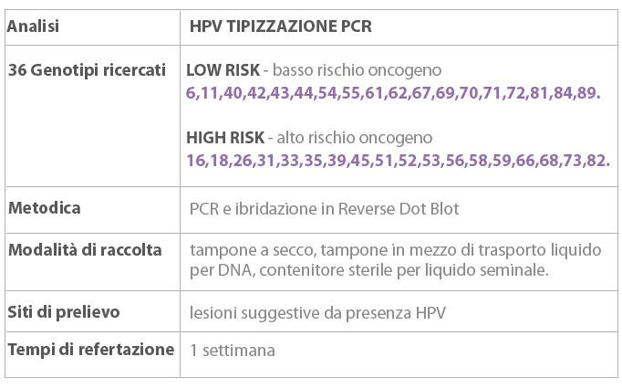 papilloma virus a basso rischio
