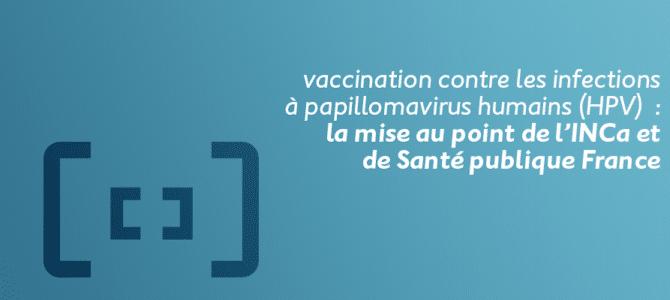 papillomavirus humains vaccin