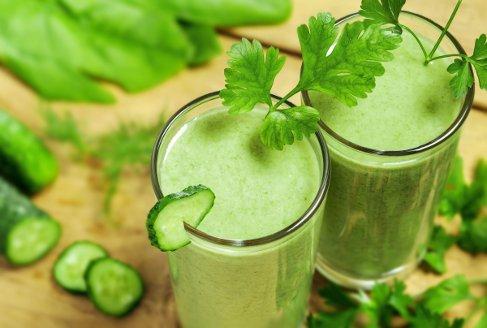 smoothie detoxifiere pentru slabit vierme mare verde