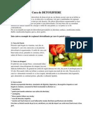 cura alimentara detoxifiere